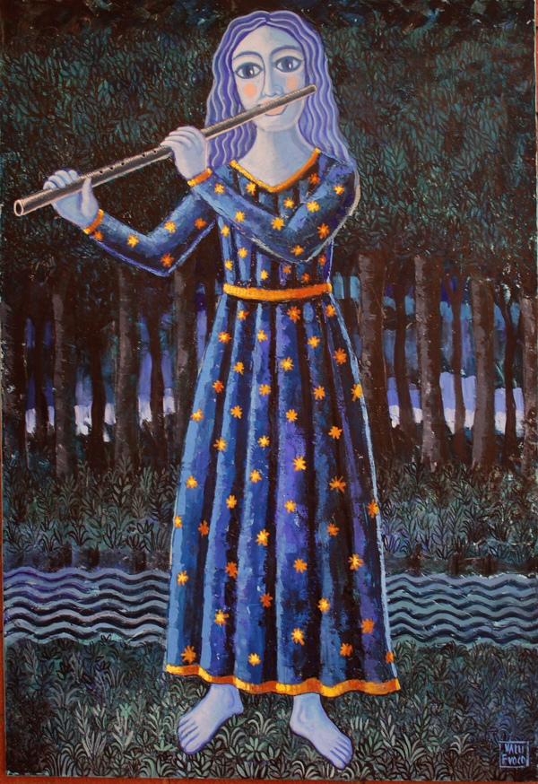 Allegoria della notte Anno 2014 Acrilico e polimaterico su tela cm 100x70