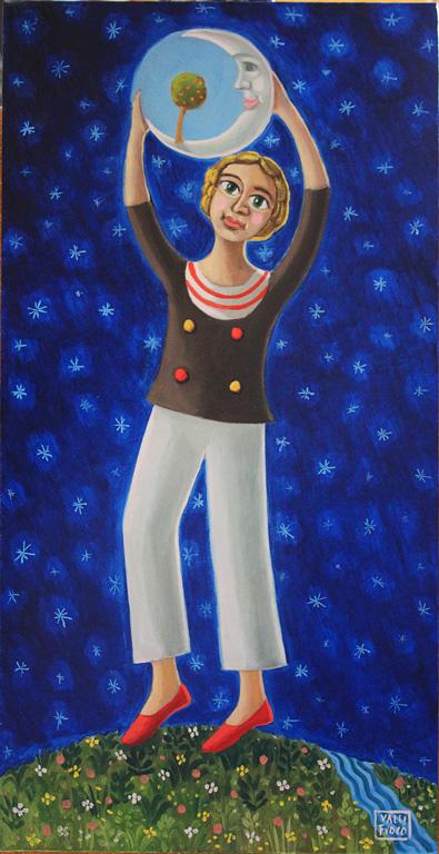 Dream Life anno 2015 olio su tela cm 80x40