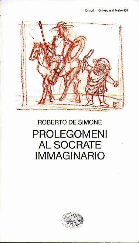 Il Socrate immaginario 2004, di Roberto De Simone, edizioni Einaudi, Collana Teatro, tavola a sanguigna su cartoncino, cm 20x30