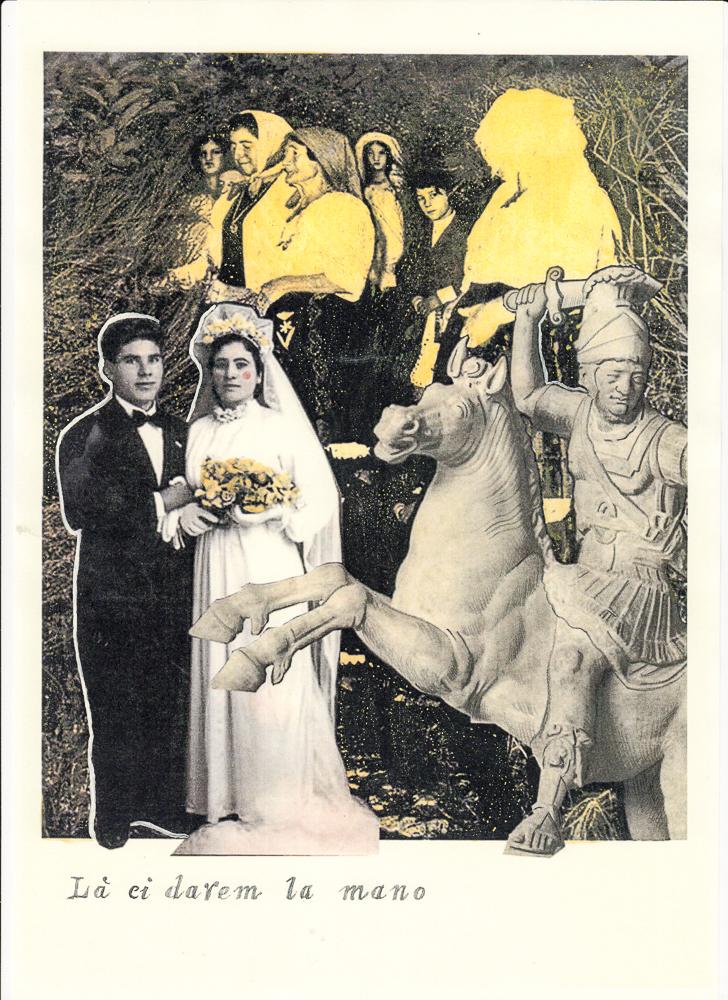 là ci darem la mano_La canzone Napolitana, 2017, di Roberto De Simone, edizione Einaudi, Torino, editing grafico, stampa digitale su cartoncino, con interventi di ritocco pittorico, cm 30x40