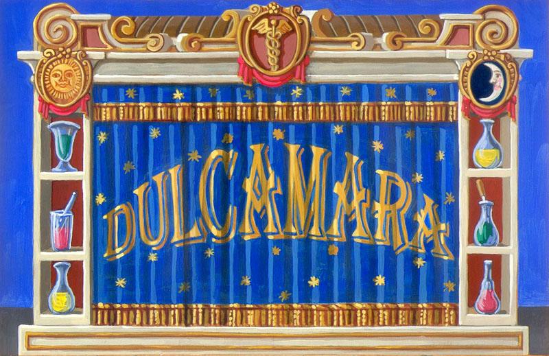 Bozzetto di scena Il paese L'elisir d'amore Opera in due atti di Gaetano Doninzetti Libretto di Felice Romani Teatro Marucino Comune di Chieti Regia: Cesare Scarton Costumi: Laura Viani Chieti, 23,25 Novembre, 2012.