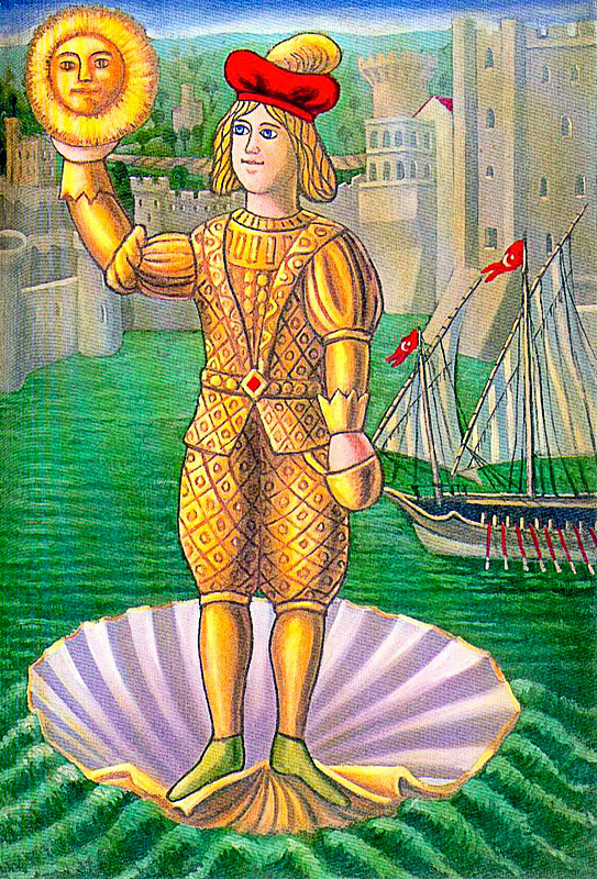 Fiabe Campane, 1994 Tavola Olio su tela cm 50x70