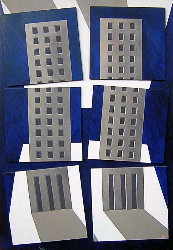 666-II-IX-MMI, ANNO 2002,Polittico olio su Tavola cm 120x80.