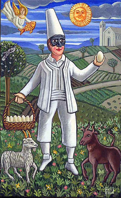 Aprile 2000 allegoria dei mesi olio su tela cm 25x45