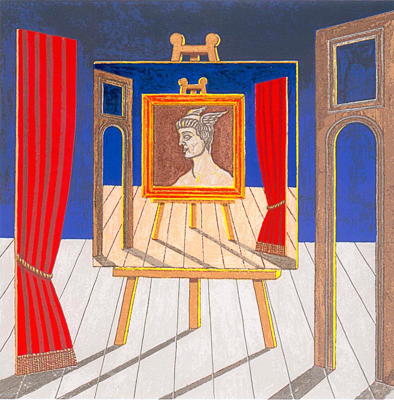 Artista in scena 2007 tempera acrilica su tela cm 80x80
