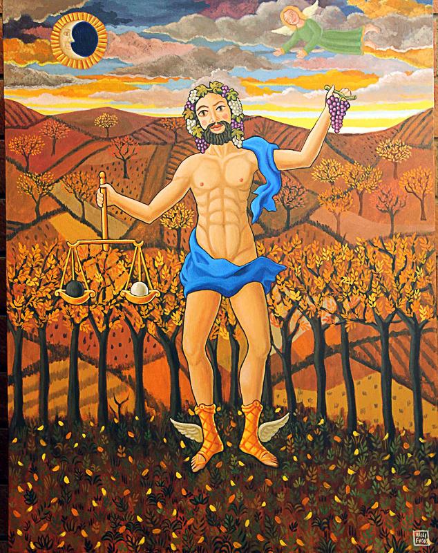 Autunno, allegoria 2012 olio su tela cm 50x70