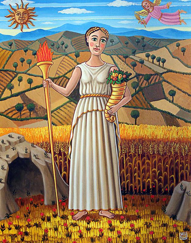 Estate, allegoria 2012 olio su tela cm 50x70