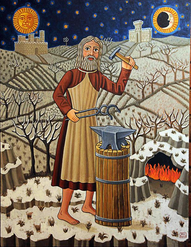Inverno, allegoria 2012 olio su tela cm 50x70