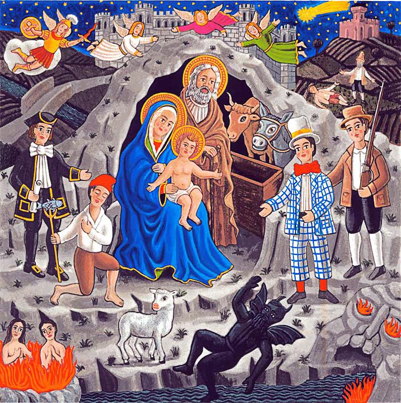 La cantata dei pastori 2000 Olio su tela cm 100x100