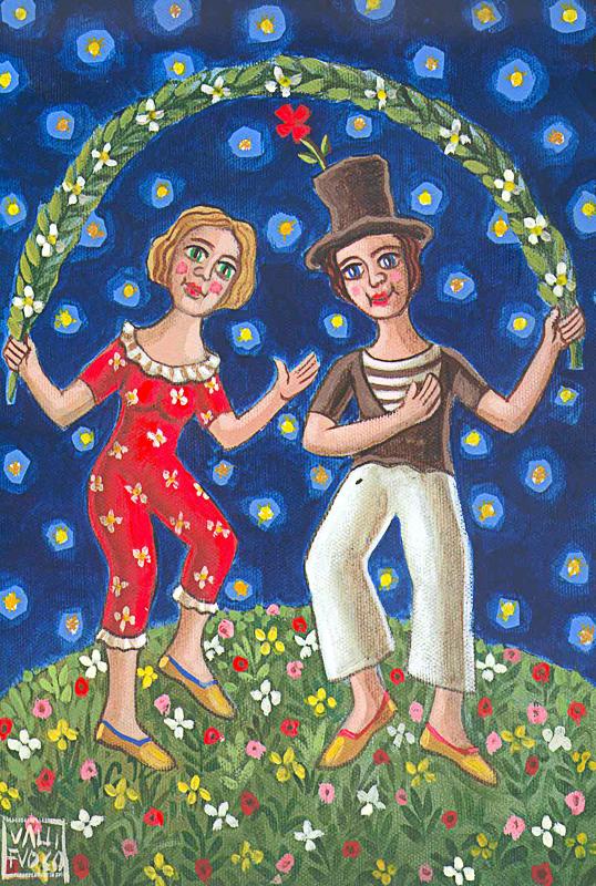 La danza 2010 omaggio a Macel Marceau olio su tela cm 30x40