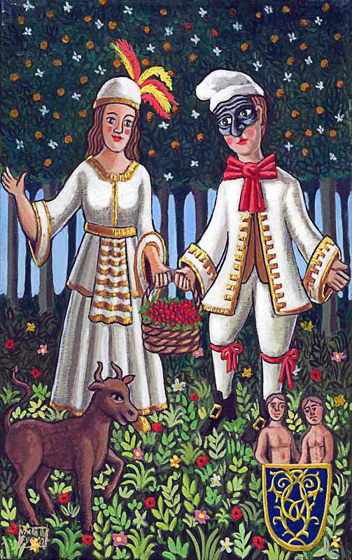 Maggio 2000 allegoria dei mesi olio su tela cm 25x45