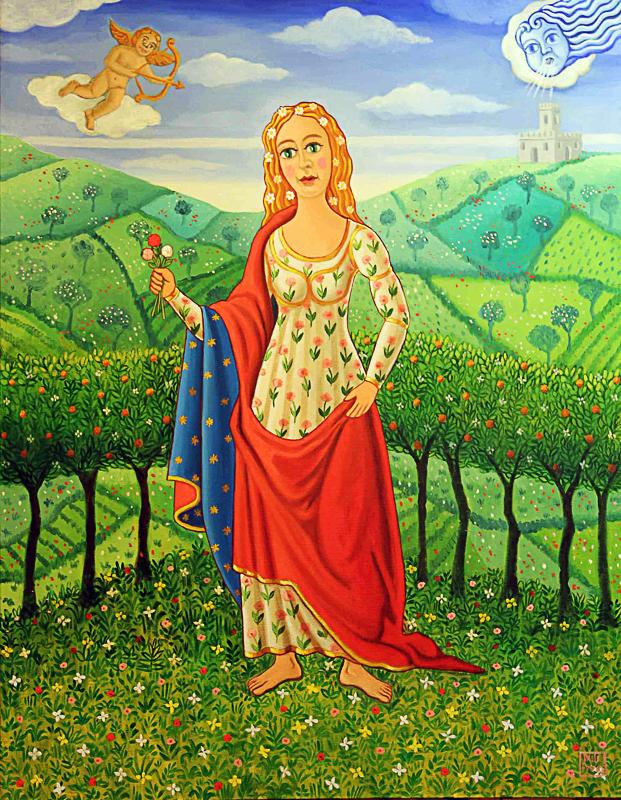 Primavera, allegoria 2012 olio su tela cm 50x70