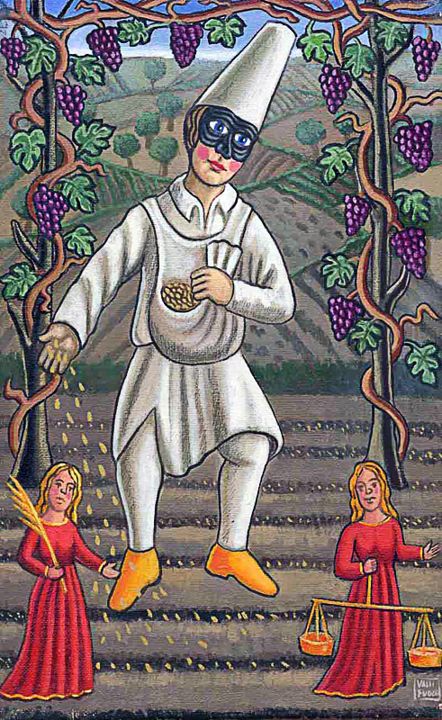 Settembre 2000 allegoria dei mesi olio su tela cm 25x45