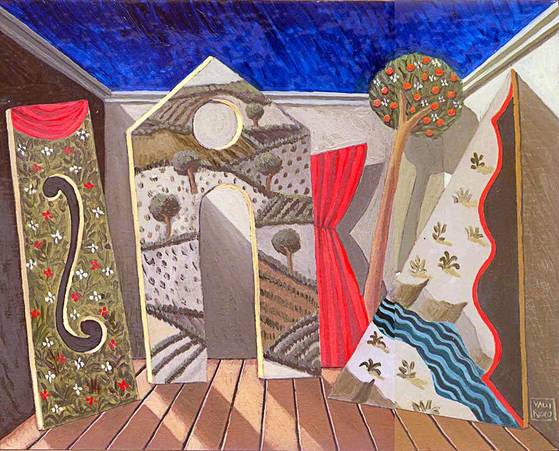 Impraticabile 1 2004 olio su tavola cm 30x24