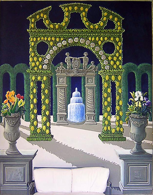 installazione di dipinti nell' Hotel De La Villa Avellino 2006