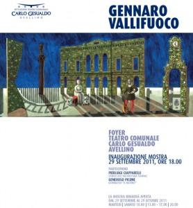 Locandina/Invito alla mostra al Foyer Teatro Comunale Carlo Gesualdo