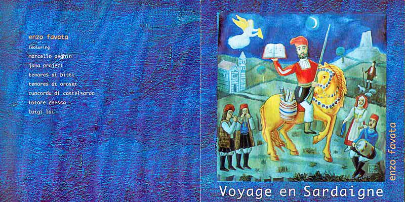 Voyage en Sardaigne, 1996 Cd musicale di Enzo Favata edizioni Il Manifesto, Roma Copertina del Cd