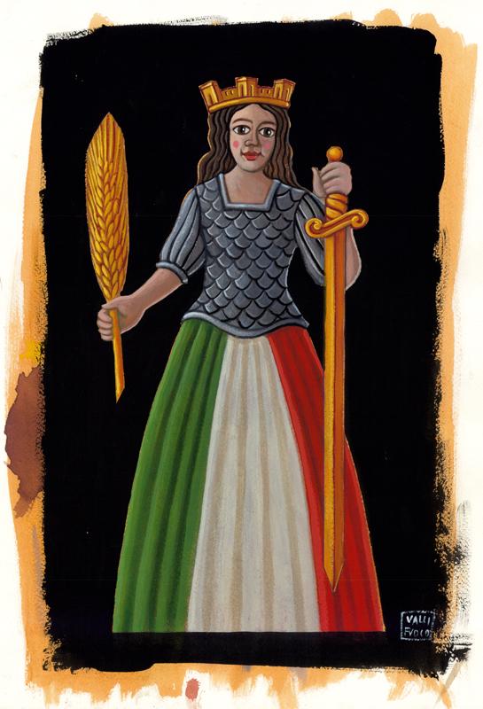 Bozza Allegoria dell'italia 2011 Allestimento Scenografico ed Espositivo per la Mostra Est Locus…