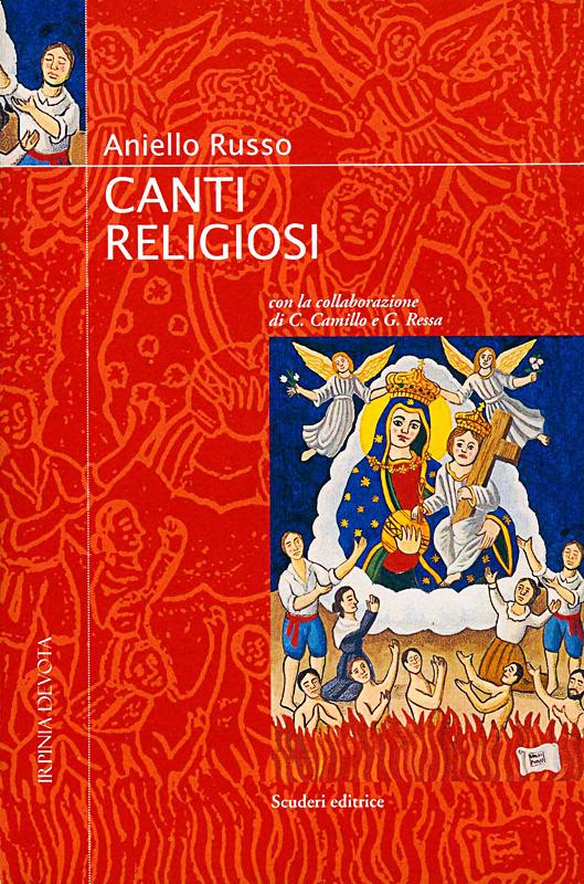 canti religiosi, 1997 di Aniello Russo, edizioni Scuderi, Avellino. Copertina del volume, tavola a tempera acrilica su legno cm 40x50