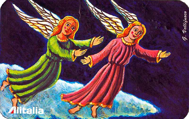 card da collezione per ALITALIA per l'Arte, 1997, tavola ad Olio su tela cm 40x30