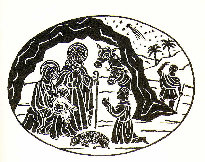La cantata dei pastori, 2000, Tavola ad inchiostro di china su carta, cm 30x40 6