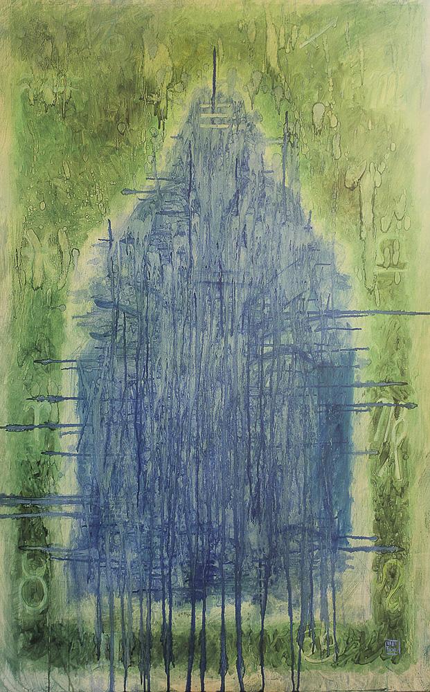 MATER MATUTA 2018, allegoria degli elementi: Terra olio su tela incollata su tavola cm 94.5x60x5
