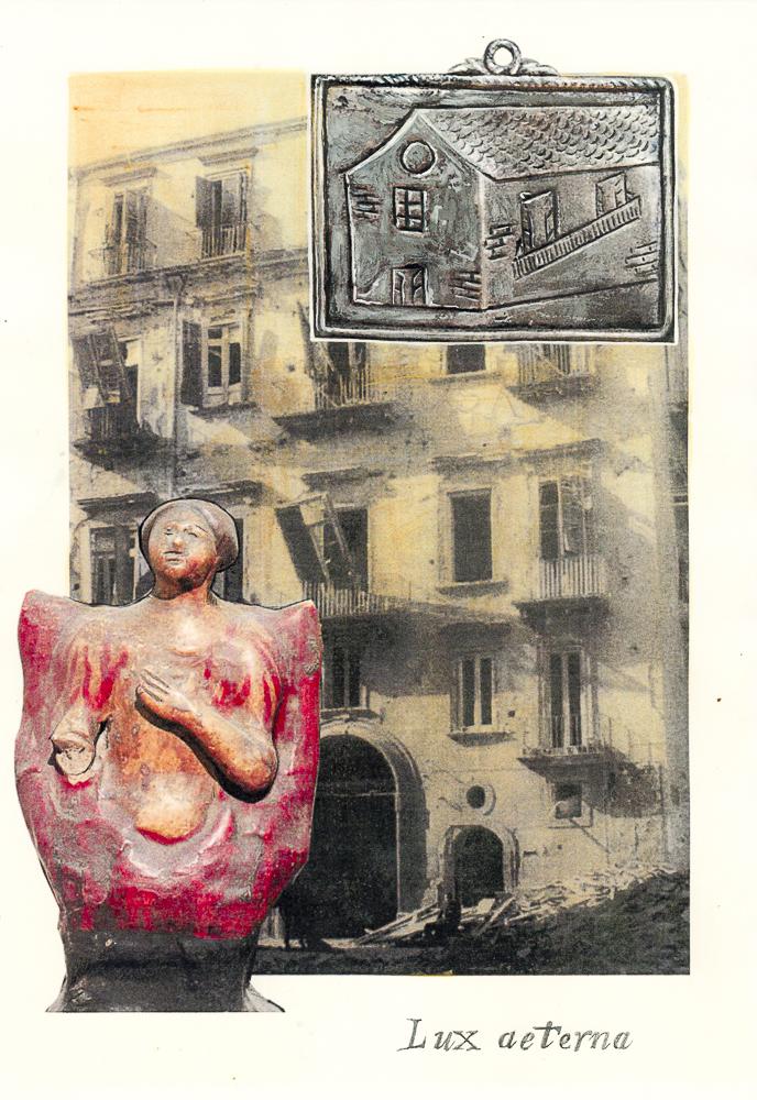 lux aeterna_La canzone Napolitana, 2017, di Roberto De Simone, edizione Einaudi, Torino, editing grafico, stampa digitale su cartoncino, con interventi di ritocco pittorico, cm 30x40