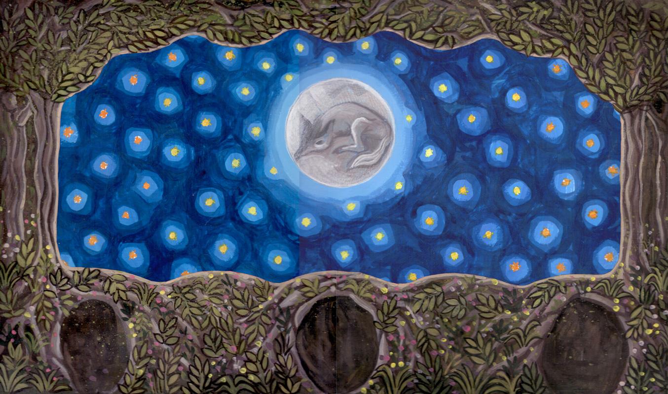 Bozzetto di scena Notturno con luna