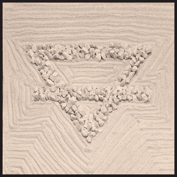Mandale della Terra anno 2014 Legno, filler calcareo e pietrisco cm 100x100