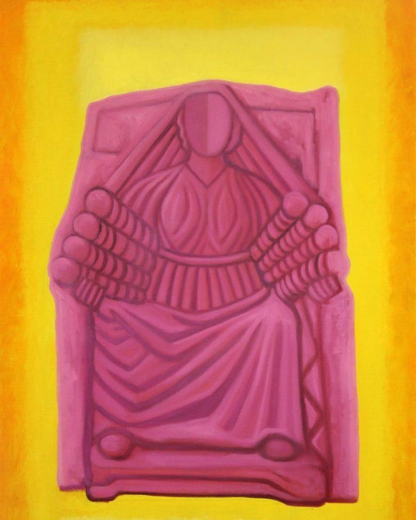 Mater Matuta, allegoria dei mesi Agosto.Olio su tela di lino.